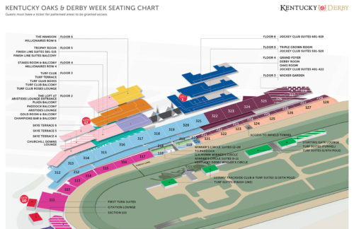 Kentucky Derby Seat Map