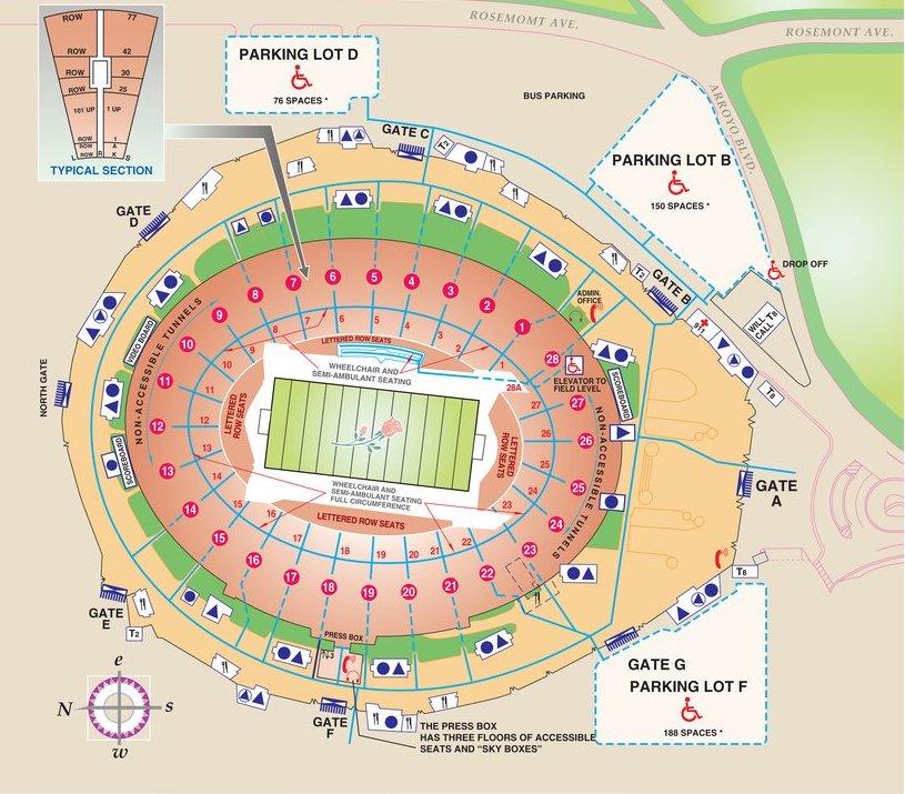 rose bowl seat map