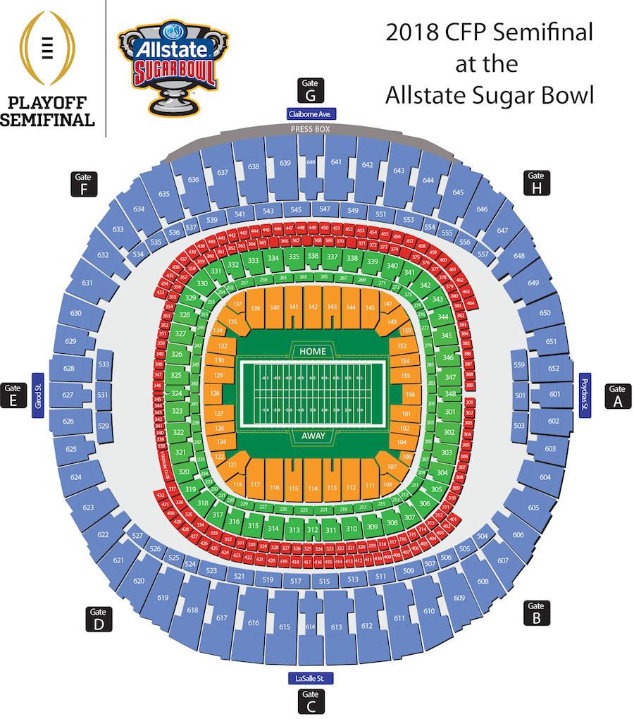sugar bowl seat map