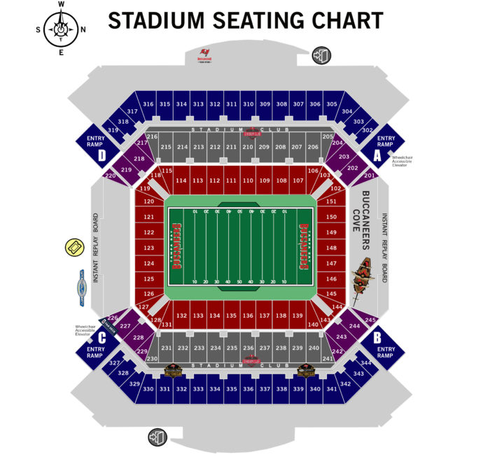 Tampa stadium map