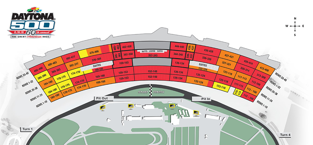Daytona Seating Chart The Future