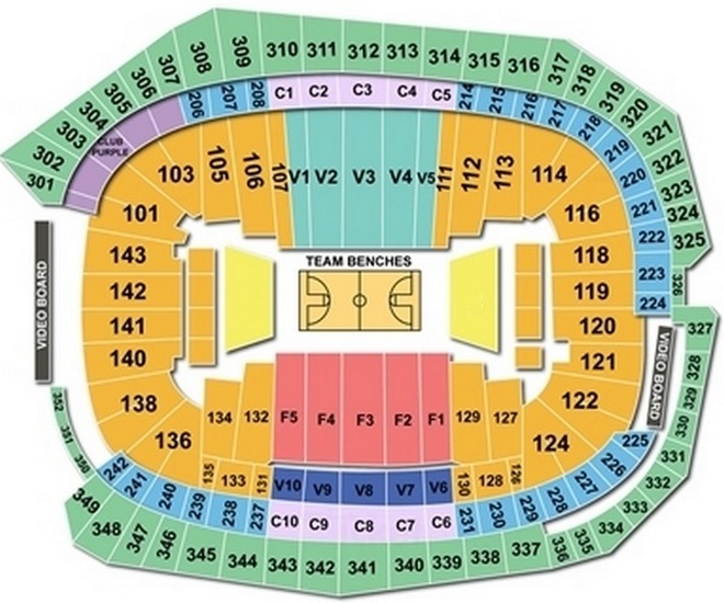 2019 FINAL FOUR SEAT MAP