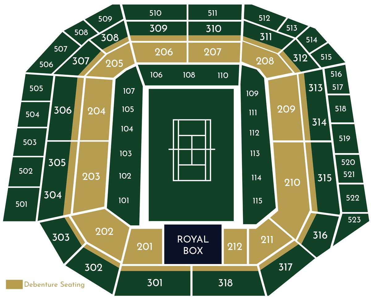 Wimbledon Seat Map