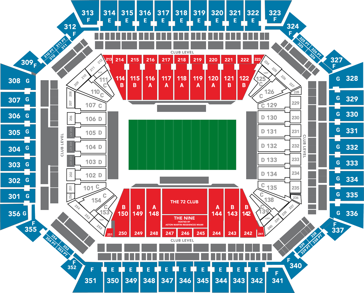 2020 super bowl seat map